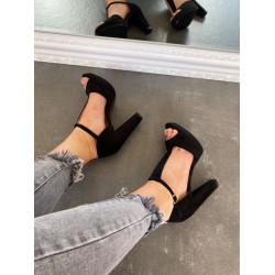 Melnas kurpes uz papēdi, papēdis 10.5 cm