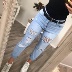 Plēsta gaišas džinsas