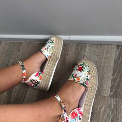 Puķainas vasaras platformas kurpes