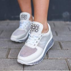 Platformas kurpes ar pērlītēm