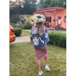 Džinsa jaka ar mežģīnītēm