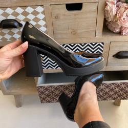 Lakotas kurpes uz papēdi, papēdis 9cm - platforma 2cm