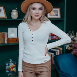 Balts džemperis ar podziņām