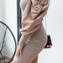Bēša kleita ar skaistām rociņām