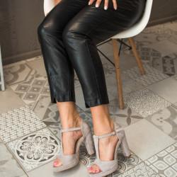 Pelēkas augstpapēžu kurpes - papēdis 10,5 cm