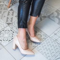 Miesas krāsas lakotas kurpes, papēdis 8,5 cm