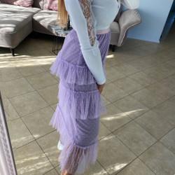 Violeti tilla svārki