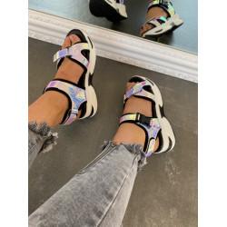 Hameljona krāsas platformas sandales