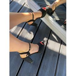 melnas kurpes, papēdis 9cm