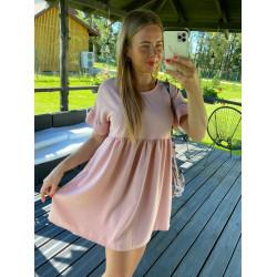pūder rozā kleitiņa ar kruzuļiem