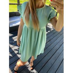 mint krāsas kleitiņa ar kruzuļiem