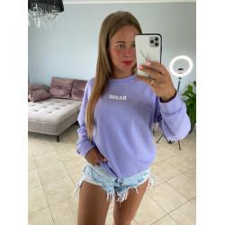 Violets džemperis ar uzrakstu basic