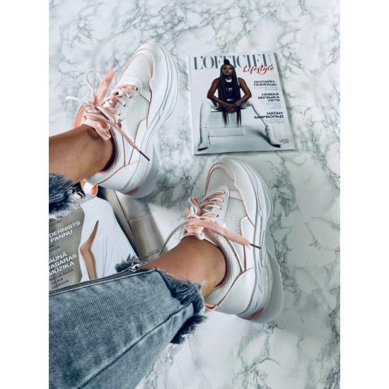 baltas botes ar dubultām šņorēm