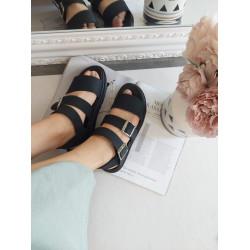 Melnas  , gumijotas sandales