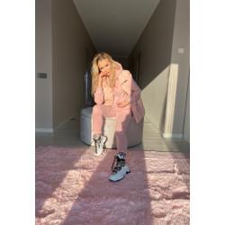 Pūderrozā krāsas komplekts 3in1, bikses, jaka, veste