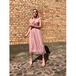Pūderrozā, svinīga kleita
