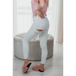 Baltas džinsa bikses