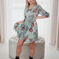 Mint krāsas ziedu kleita