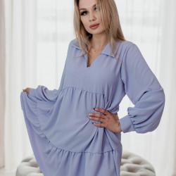 Violetas krāsas brīvā stila kleita
