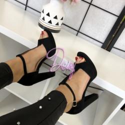 Melnas augstpapēžu kurpes - papēdis 10,5 cm