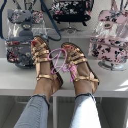 Bronzas krāsas sandales