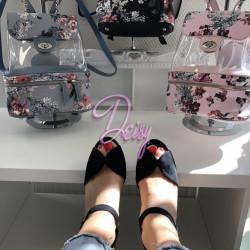 Melnas platformas kurpes - papēdis 10 cm