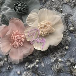 Džinsa šortiñi ar ziediem