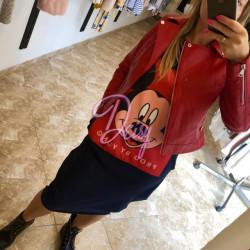 Sarkana ādas jaka